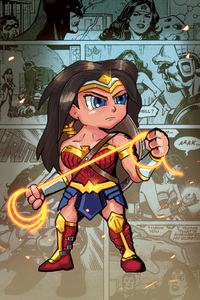 Wonder Woman Cartoonic 5k