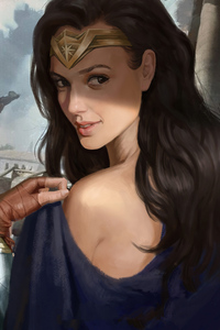 320x480 Wonder Woman Closeup