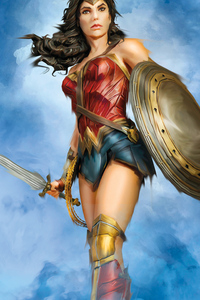1080x2160 Wonder Woman Coming 4k 2020