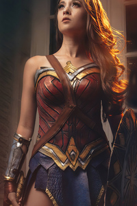 1440x2560 Wonder Woman Cosplay 2021 4k