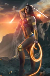 240x400 Wonder Woman Cosplay 4k 2020