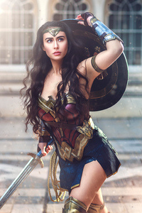 1080x2160 Wonder Woman Cosplay 4k New