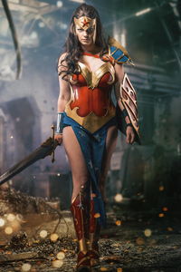 800x1280 Wonder Woman Cosplay 5k