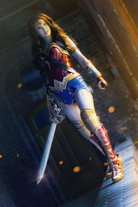 480x800 Wonder Woman Cosplay Fight For The Innocent