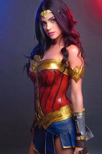 2160x3840 Wonder Woman Cosplay Girl 4k