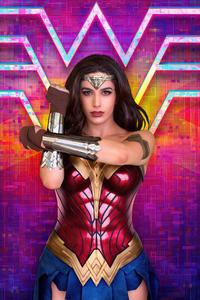 540x960 Wonder Woman Cosplay Retro 4k