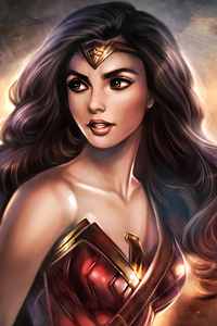 Wonder Woman Cute Artwork