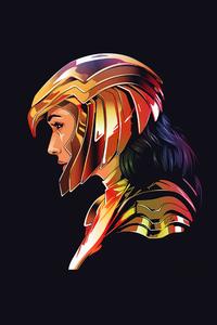 1080x1920 Wonder Woman Dark Minimal 5k
