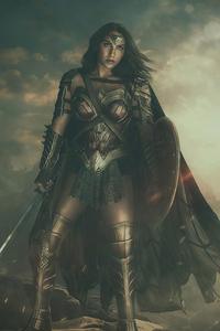 1280x2120 Wonder Woman Dark Side 4k