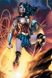 1080x2160 Wonder Woman Dc Comic Artwork