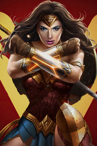 1440x2560 Wonder Woman Dc Injustice 2 Mobile