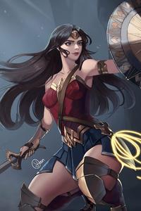 Wonder Woman Defending