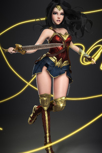 Wonder Woman Digital Artwork 3D