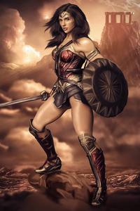 1080x2160 Wonder Woman Digitalart 5k