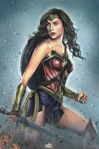 Wonder Woman Drawing Art