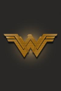 720x1280 Wonder Woman Emblem 5k