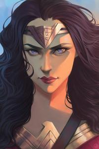 Wonder Woman Face Portrait