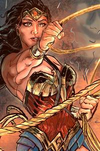 480x800 Wonder Woman Fan Art 4k