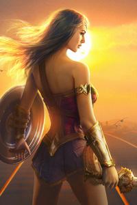 320x568 Wonder Woman Fan Art Hd