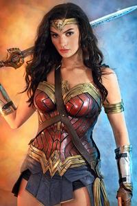 720x1280 Wonder Woman Fan Cosplay 5k