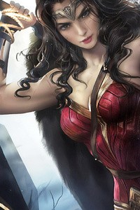 640x1136 Wonder Woman FanArtwork
