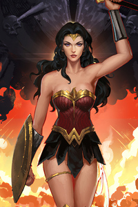 1280x2120 Wonder Woman Fanrat