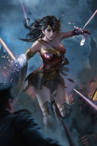 1080x1920 Wonder Woman Fantasy Art 4k