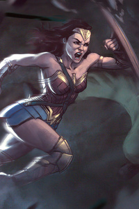 800x1280 Wonder Woman Fighting With Enemies 4k