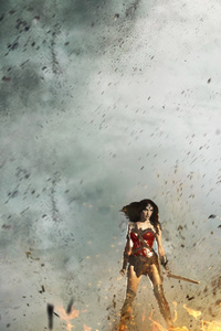 Wonder Woman Fighting With Monsters