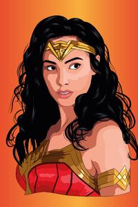 1080x2160 Wonder Woman Fractal Art 4k