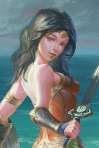 1440x2560 Wonder Woman Girl Artwork