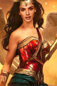 320x480 Wonder Woman Girl Cosplay 5k