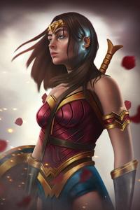 240x320 Wonder Woman Goddess Of Amazons
