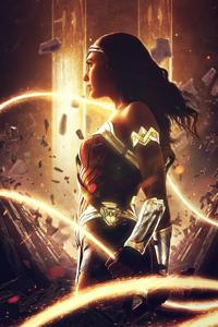 800x1280 Wonder Woman Gold Queen 5k