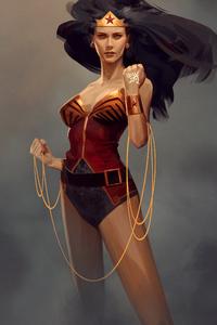 Wonder Woman Hair Flowing