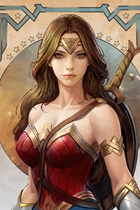 Wonder Woman Hero Art 4k