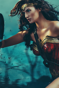 1440x2960 Wonder Woman In War Cosplay 5k