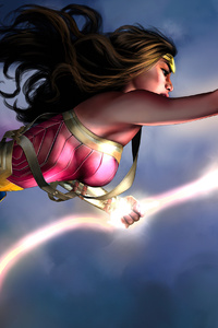 1440x2960 Wonder Woman Injustice