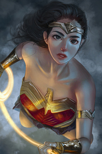 480x800 Wonder Woman Innoncent Eyes 4k
