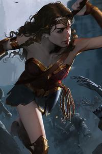 Wonder Woman Killing Zombie