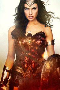 1440x2560 Wonder Woman Knight 12k