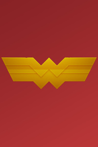 1242x2688 Wonder Woman Logo Art