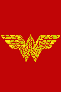 1440x2960 Wonder Woman Logo Artwork