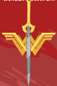 Wonder Woman Logo Minimalist 5k