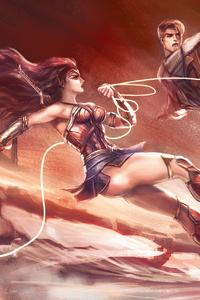 640x960 Wonder Woman Love In War