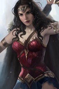 1080x1920 Wonder Woman Newart 4k