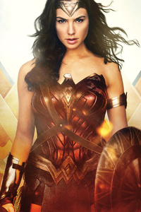 480x800 Wonder Woman Night Angel 12k