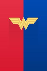540x960 Wonder Woman Old Logo Minimal 8k