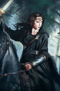 Wonder Woman On Horse 4k