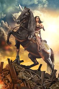 Wonder Woman On Horse
